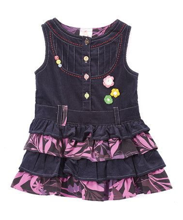 Another great find on #zulily! Purple & Denim Dress - Toddler & Girls #zulilyfinds
