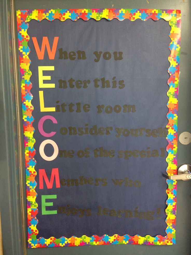 Welcome to our class! Door decoration for third grade | Classroom ...