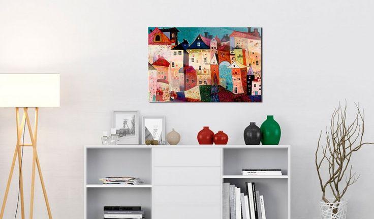 Cuadro acrílico Artistic City [Glass]
