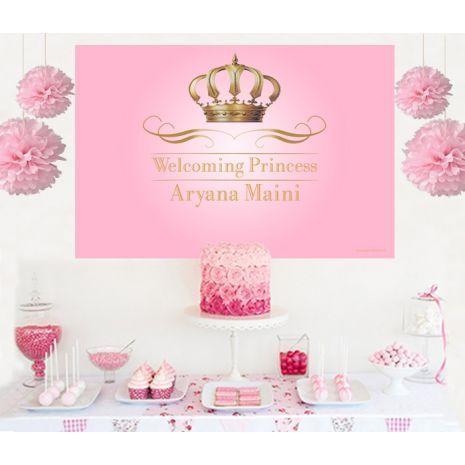Royal Pink Princess Cake Table Backdrop