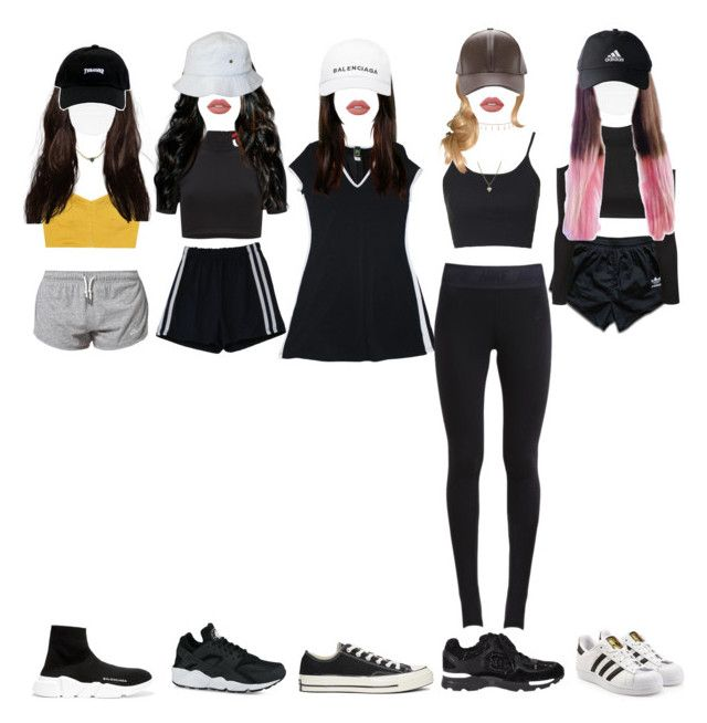"""""""[ predebut ] The best dancers dancing to ' Dawin - Just Girly Things '"""" by xxzodiacentertainmentxx ❤ liked on Polyvore featuring NIKE, adidas, Isa Arfen, T By Alexander Wang, Topshop, Balenciaga, adidas Originals, Converse, Luv Aj and Zara Taylor"""