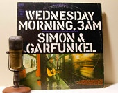 "Vinyl Record Album 1960s LP,Simon & Garfunkel - ""Wednesday Morning, 3 Am"" (1970 Re-Issue with ""The Sounds of Silence"")"