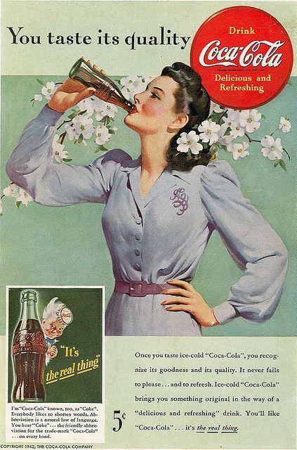 Funny: Vintage Coca Cola print ads