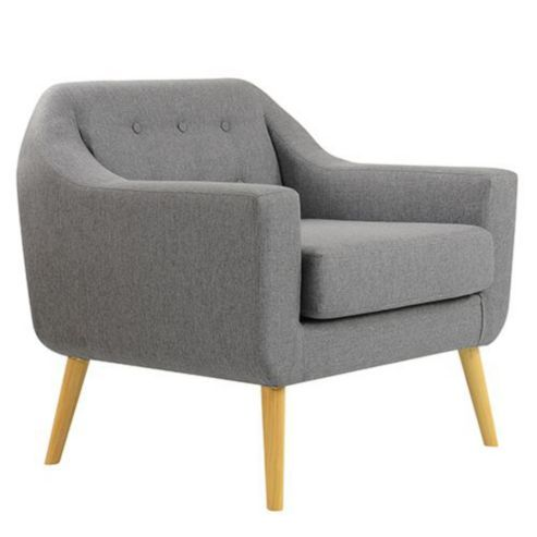 Deco Grey Fabric Occasional Chair Single Sofa