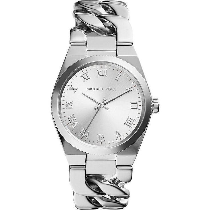 Original Michael Kors MK3392  Damenuhr Armband Edelstahl Silberfarbig Neu
