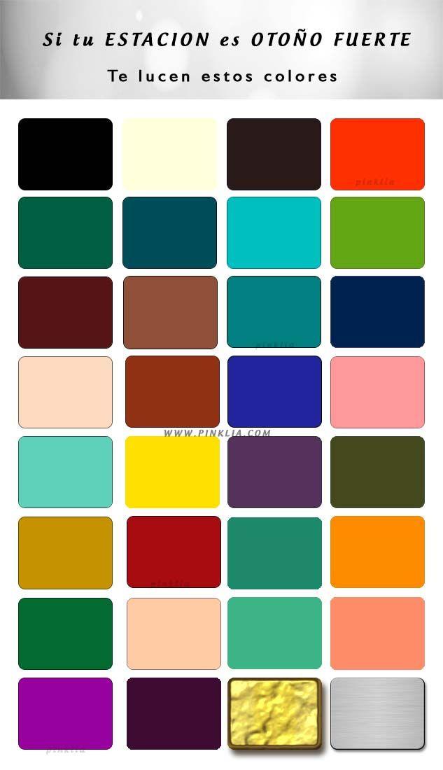 Conoce cuales son los colores que más te lucen sí eres de la estación otoño fuerte. Análisis de color de las 12 estaciones.