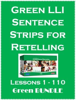 Sentence Strips for Retelling BUNDLE Green Leveled Literac