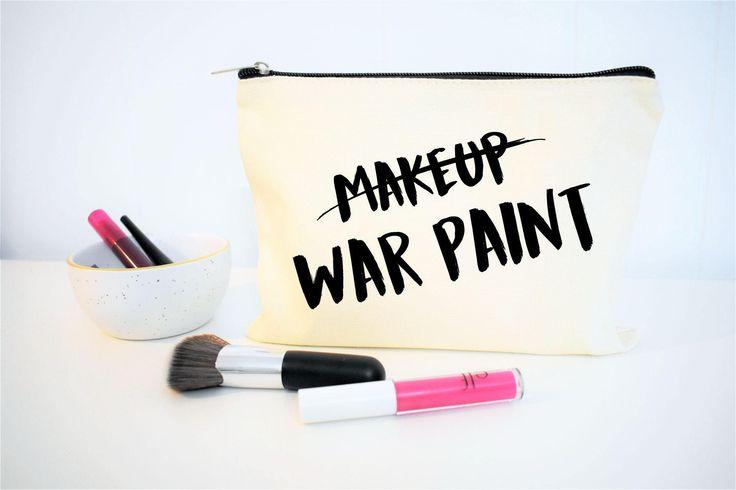 Makeup Bag, War Paint Makeup Bag, Makeup Pouch, Makeup Case, Cosmetic Bag, Cosmetologist Gift, Makeup Artist Gift, Makeup Gift, Gift for Her
