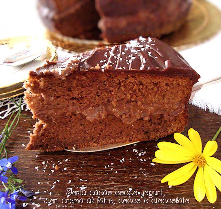 Una Torta per i più golosoni al sapore fresco di cocco e con tutta l'affascinante magia del cioccolato! Ma cosa fate? Siete ancora lì??? Correte a prepararla!