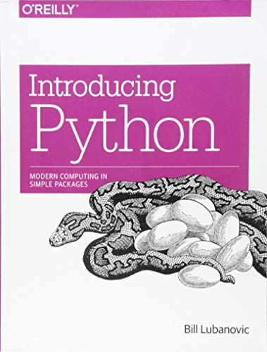 DOWNLOAD PDF] Introducing Python Modern Computing in Simple
