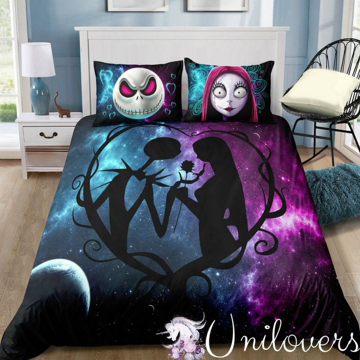 Galaxy Of Halloween Love Bedding Set In 2019 Jack