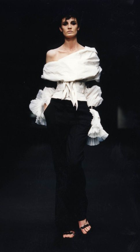 "The ""King"" of white shirts, Italian designer GIANFRANCO FERRE` (1944/2007), 2001"