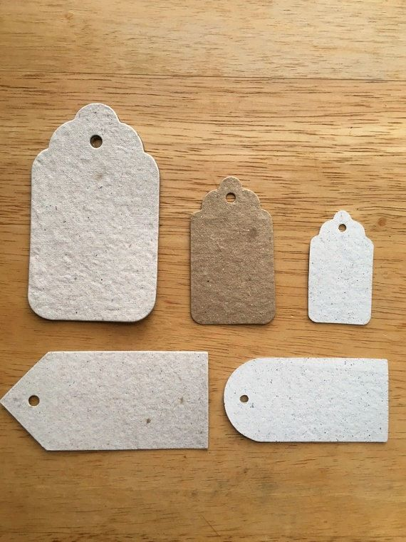10 gift tags eco friendly packaging price tags by WhiteDragonPaper
