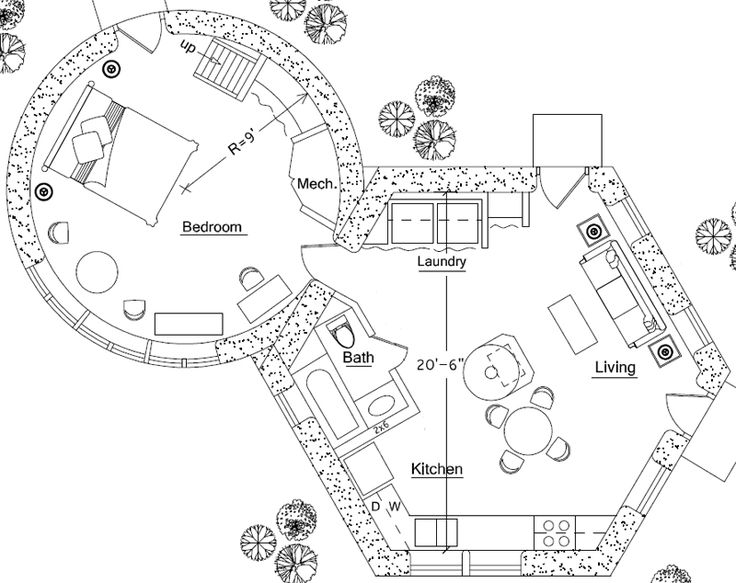 Straw bale house plans round images for Round house plans photos