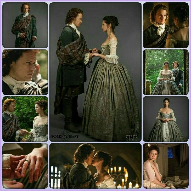 """Jamie & Claire Fraser's Wedding – *** See separate board """"Ent: TV - Outlander S1E7 The Wedding"""" 