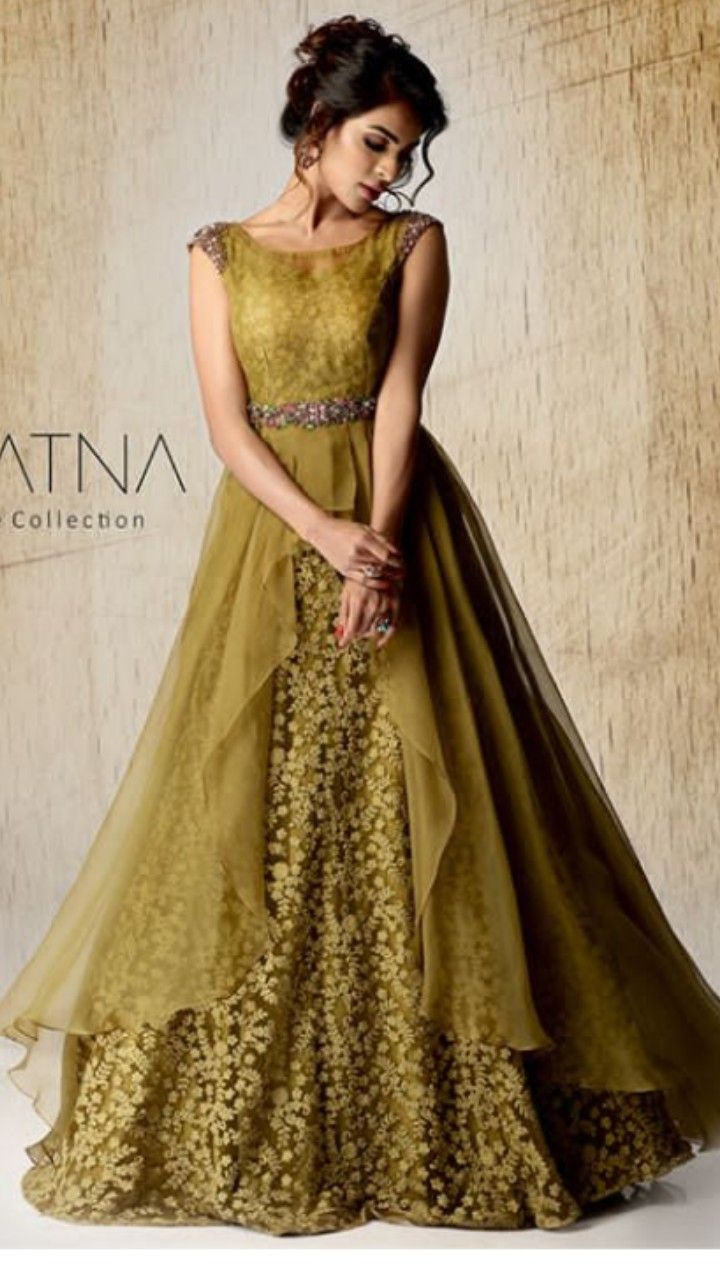 Beautiful Gown with modern silhouettes and superb embellishments