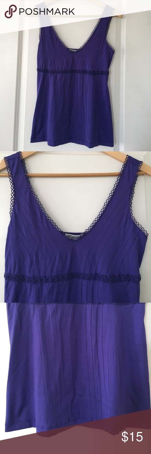 MNG by Mango top MNG by Mango tank top. Soft stretchy fabric. Blue/purplish color. Pre-owned but in great condition Mango Tops Tank Tops