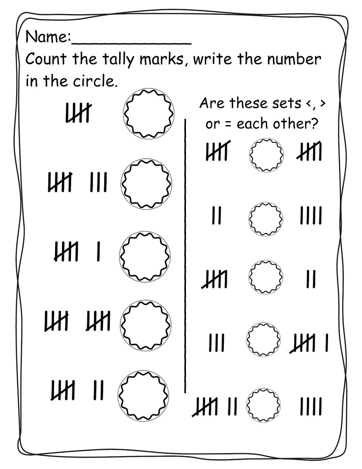 Printable Worksheets tally mark worksheets for first grade : 269 best Kindergarten Math Ideas images on Pinterest | Preschool ...