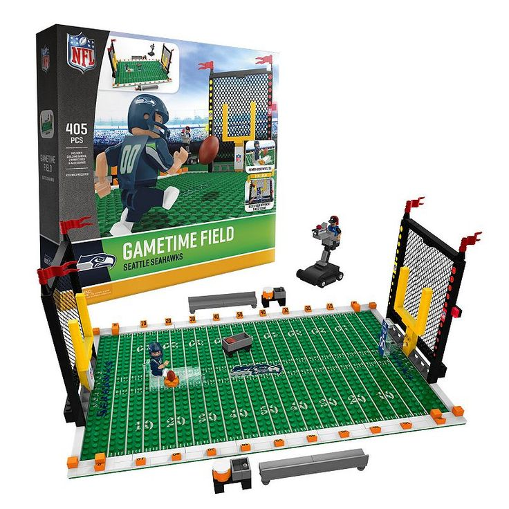 OYO Sports Seattle Seahawks 405-Piece Game Time Building Block Set, Multicolor
