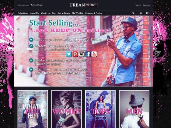 Looking for an edgy #websitedesign? Urban Zone is a funky #ecommerce website ideal for an online #fashion #furniture or #homewares store. With lots of great features like #socialmedia functionality, Paypal Integration and e-newsletter subscriptions.
