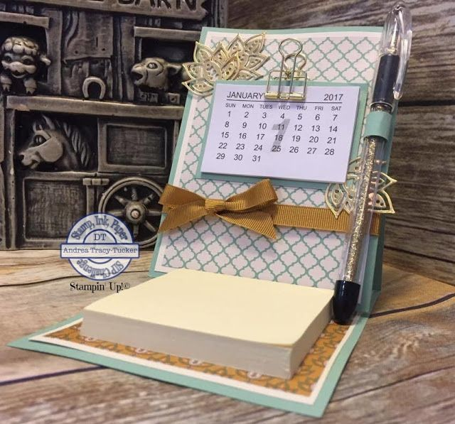 One Stampin' Mother Tucker: Stamp Ink Paper 66 Anything but a Card Petals & Paisleys DSP, calendar and posti it note holderPaisleys & Posies Bundle, Post it Note Holder, Calendar