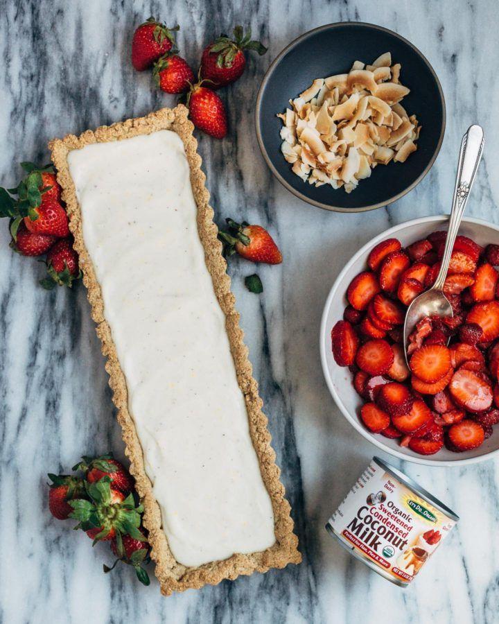 Strawberry Coconut Tart Gluten Free Vegan Cong Thức Nấu ăn