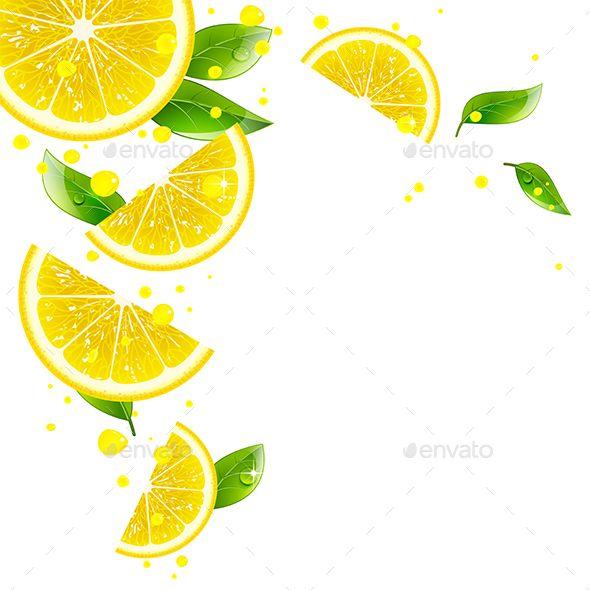 Background Of Lemon And Juice Splashes Lemon Clipart Lemon Background Milk Art