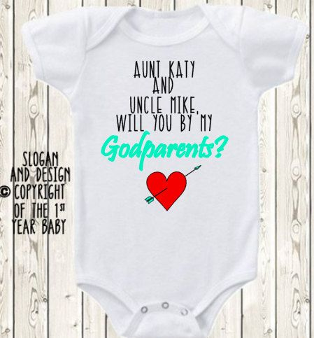 366 best ratticle baby and radical kids images on pinterest will you be my godmother godfather or godparents onesie brand bodysuit or shirt negle Gallery