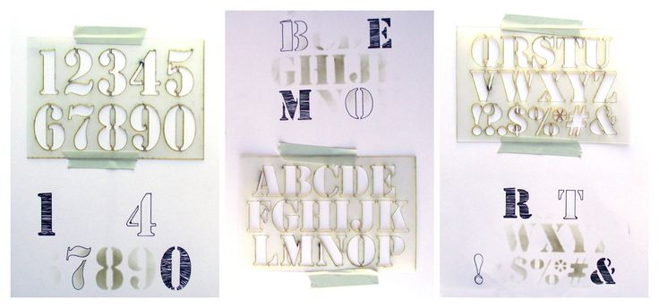 Stencil Letters & Numbers Mask Kit They have free shipping today!  coupon code:  LOVELY  !!! You know I'm getting this one!!