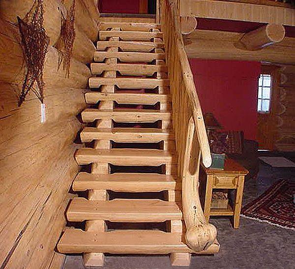 лестницы из обрезков бревна - Поиск в Google