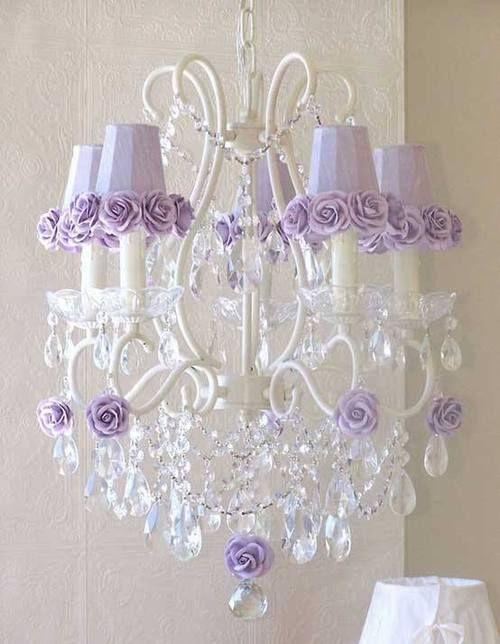 Purple Rose Chandelier