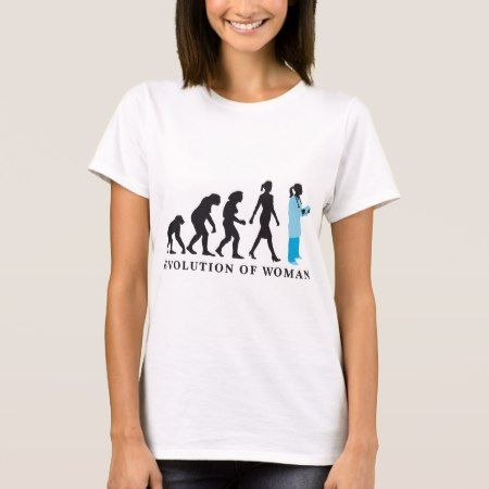 evolution OF woman female doctor T-Shirt - tap to personalize and get yours