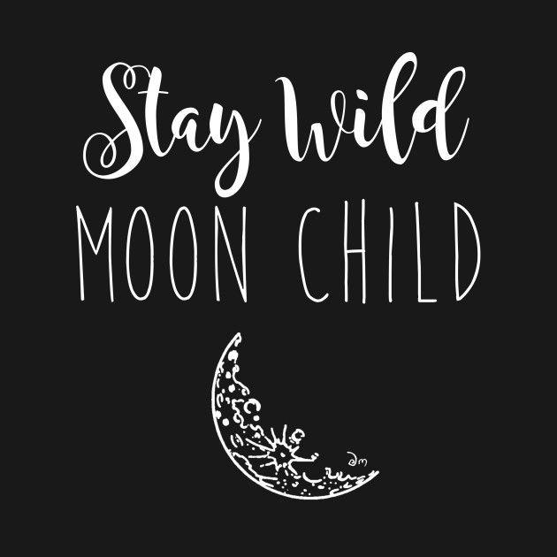 "Stay Wild Moonchild Moon Child Boho Bohemian Wall Decal Sticker 21/""w x 46.7/""h"