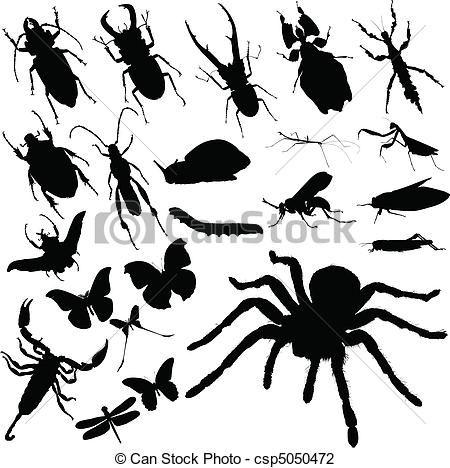 ベクター - 昆虫, グループ, ベクトル, シルエット - ストックイラスト, ロイヤリティーフリーイラスト, ストッククリップアートアイコン, ロゴ, ラインアート, EPS画像, 画像, グラフィック, ベクター画像, アートワーク, EPSベクターアート