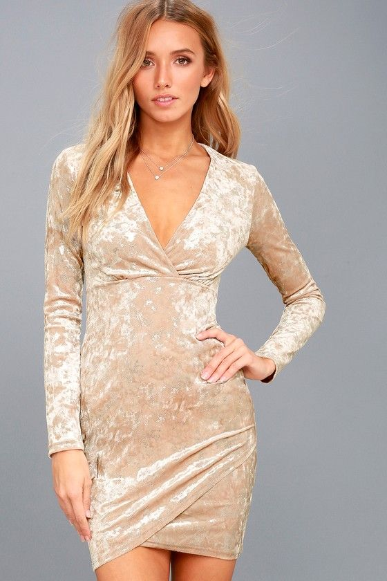 Long beige dresses for christmas