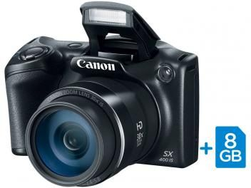 "#sdv #TimBeta Câmera Digital SemiProfissional Canon SX400IS - 16.0MP LCD 3"" Zoom Óptico 30x Cartão 8GB"