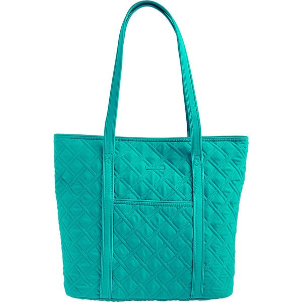 Vera Bradley Vera Tote- Solids - Turquoise Sea - Totes ($99) ❤ liked on Polyvore featuring bags, handbags, tote bags, blue, vera bradley, turquoise handbags, handbags totes, turquoise purse and blue purse
