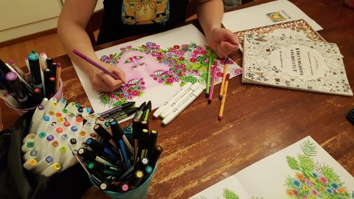 Join as a patron in Vivid Owl Coloring's next adult coloring book project