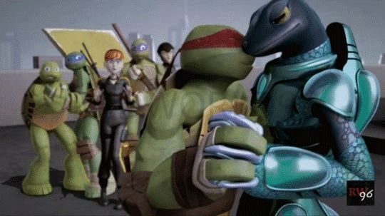 Raph and Mona Moment