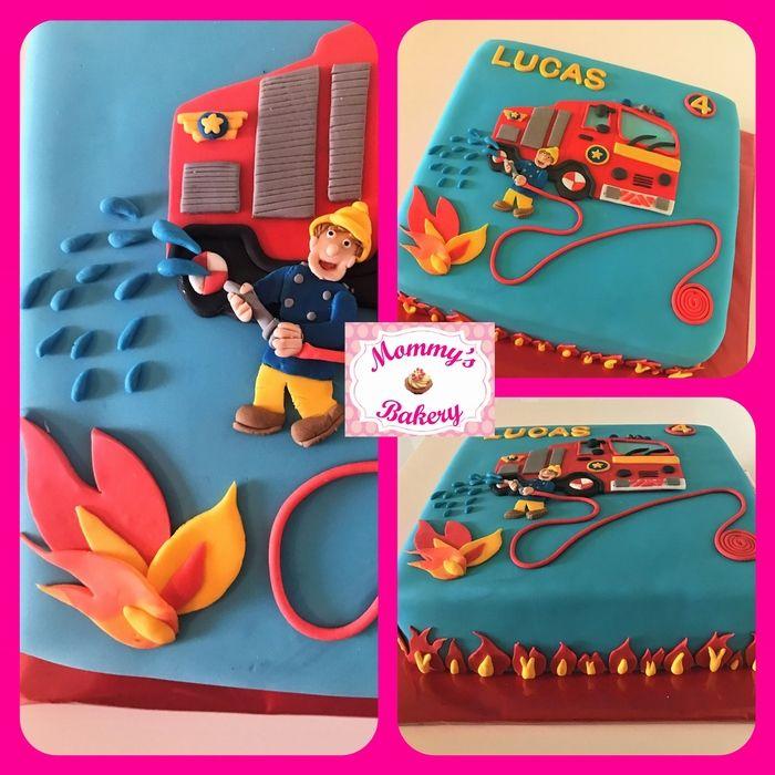 Brandweerman Sam taart