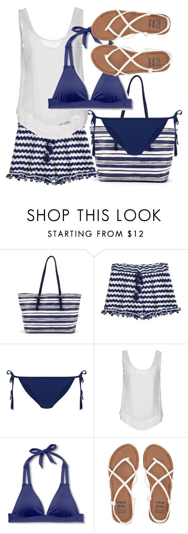 """Blue bikini"" by juliehalloran ❤ liked on Polyvore featuring Calypso St. Barth, New Look, Le Ragazze Di St. Barth, Mossimo and Billabong"