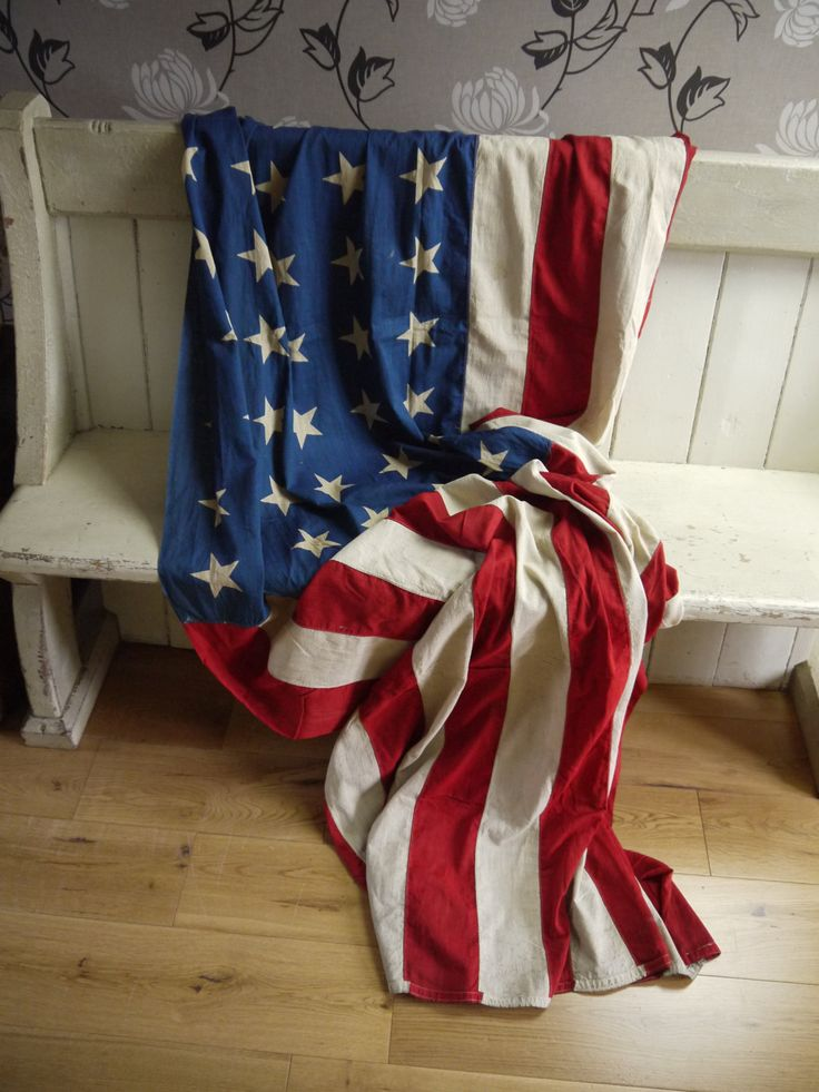 Huge Vintage American 48 Star Flag - Circa 1940s by VintiqueTree on Etsy