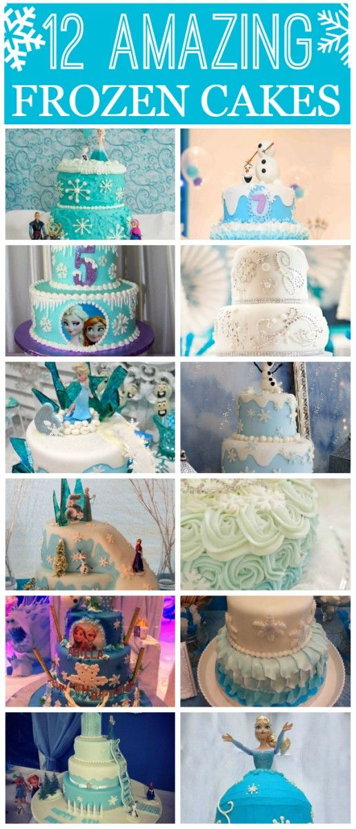 12 amazing Frozen birthday cakes that are sure to wow you! See more Frozen birthday party ideas at CatchMyParty.com.