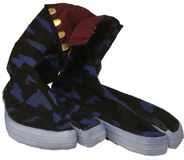 Hand-Dyed Shatter Pattern Tabi Boots by tabilady on Etsy