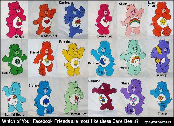 Care Bears And Their Names Httpwwwcakitchescomgeneralcare