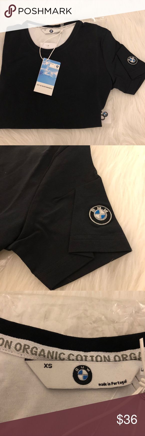 Brand🆕!💯Original BMW Ladies' T-Shirt / Black XS Brand 🆕!!! Classic ladies' tee with feminine round neckline. Certified organic cotton fabric that has been manufactured in an environmentally friendly process. 100% organic cotton. European fit. BMW Tops Tees - Short Sleeve