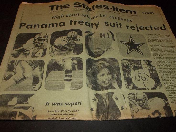 Vintage New Orleans Newspaper Dallas Cowboys Super bowl 12 Vs Denver Broncos 78