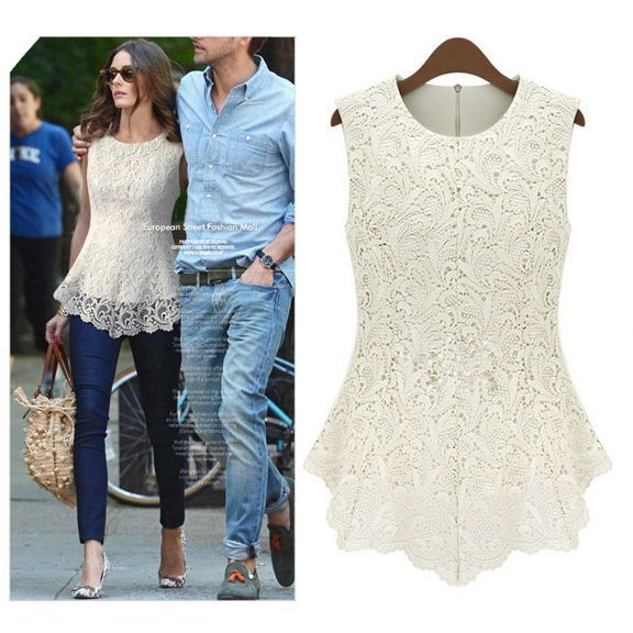 2014 New Fashion Slim chiffion Lace women Blouses Shirt chiffion White Black Sleeveless Tops plus size Women clothing nz62 US $9.99 - 10.62