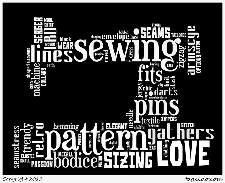 The Petite Sewist: Tonight I'm An Insomniac...With Word Art  Making word art using own text and photo shapes at Tagxedo :)