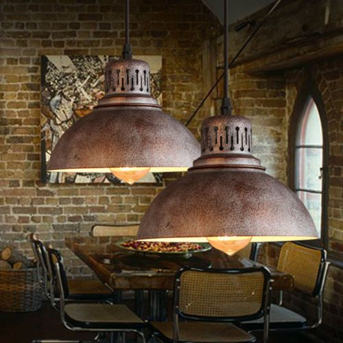 Industrial Chandelier Light Lamp Shade Sconces Iron Pendant Loft Light  Fixtures